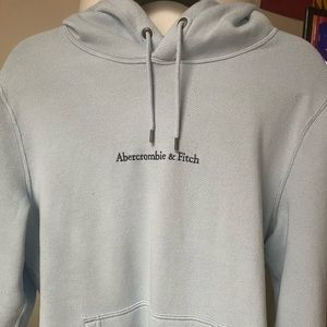 Abercrombie and Fitch, Men's Baby Blue Sweatshirt